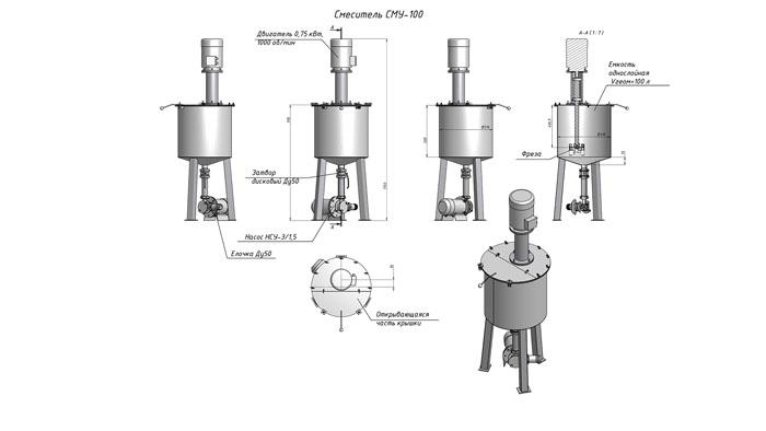 Схема устройства дисольвера v-