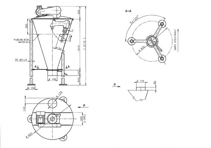 Схема вертикально-шнекового