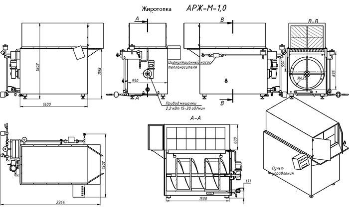 Схема устройства жиротопки