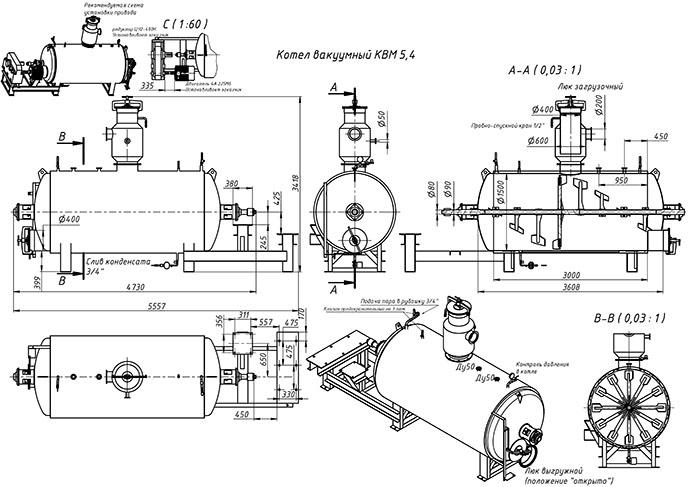 Схема варочного котла КВМ