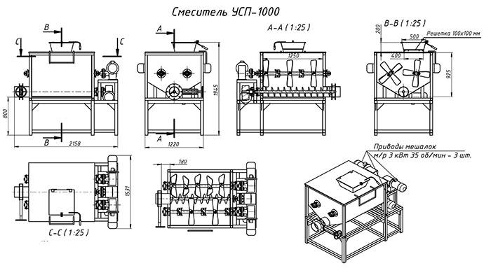 Схема устройства лопастного